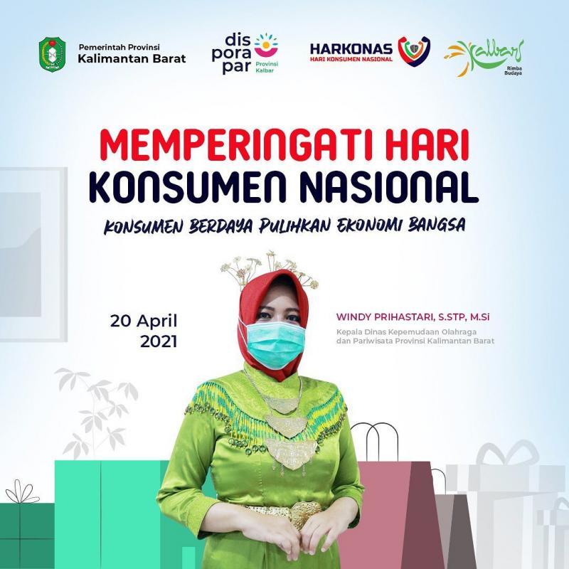 Keluarga Besar Dinas Kepemudaan, Olahraga dan Pariwisata Provinsi Kalimantan Barat mengucapkan Selamat Memperingat Hari Konsumen Nasional.