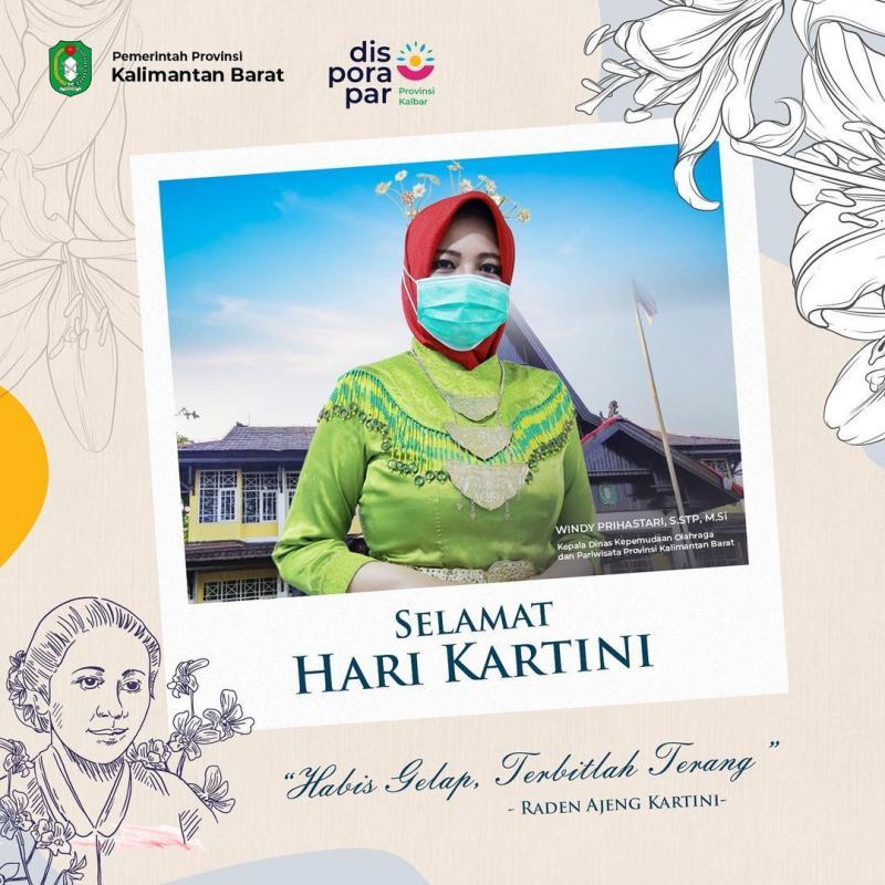 Keluarga Besar Dinas Kepemudaan, Olahraga dan Pariwisata Provinsi Kalimantan Barat mengucapkan Selamat Memperingat Hari Kartini.